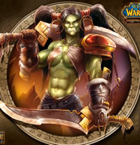 Lani as the Female Orc in WoW